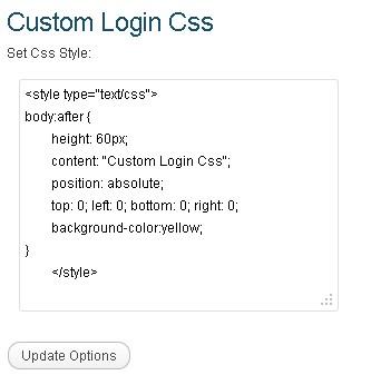 Custom Login Css